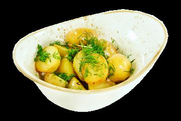 Картофель молодой обжаренный с зеленью