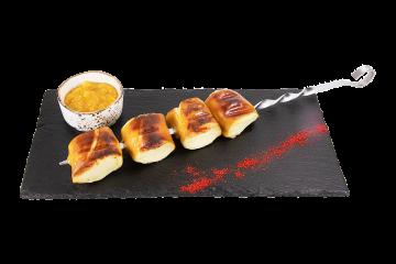 Копченый сыр жареный на мангале
